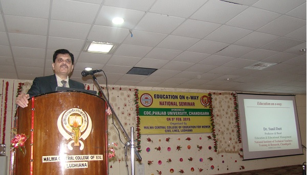 Dr. Sunil Dutt, HOD, NITTIR, Sector 26 chd. delivering  Key Note address during One Day National Seminar