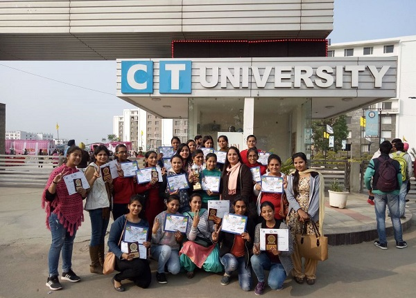 Malwa's Students with Overall Trophy of Inter college competition at CT University