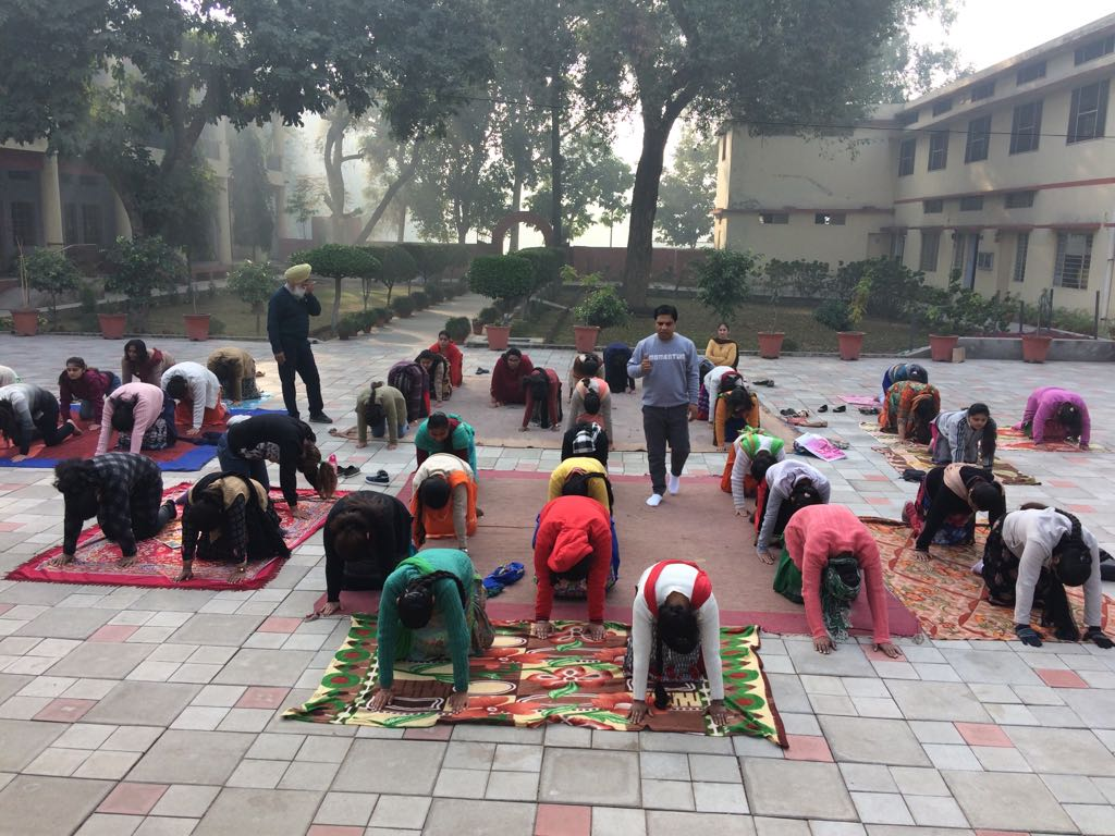 Yoga Camp is organised for one hour by expert yoga trainer Mr. Amit Ahuja.