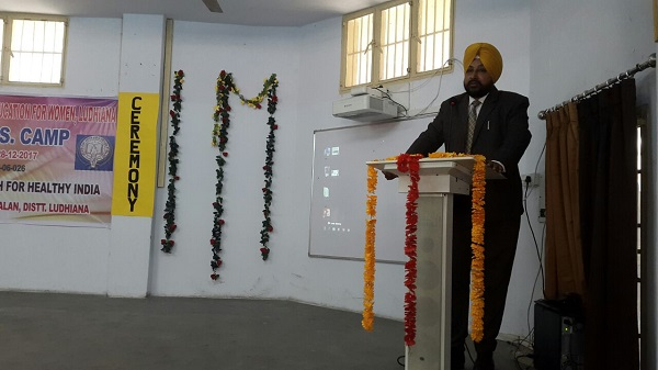 S. Devinder Singh Lotey, Assistant Director Youth Service Addressing NSS volunteers during Valedictory Ceremony of 7 Day NSS Camp