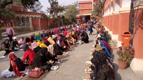 'Parkash Utsav' of shri Guru Gobind Singh ji is celebrated on 13-01-2019 at Malwa Central College of Education for Women, Ludhiana.