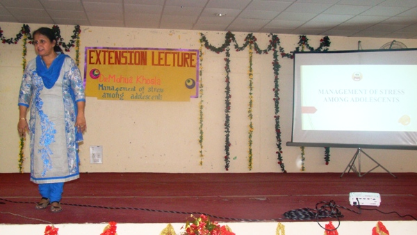 Extension Lecture by Dr. Mohua Khosla on Stress management  to school Students