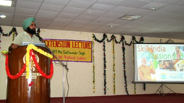 Extension Lecture on Vocational Guidance to School Students by Dr. Sukhwinder Singh