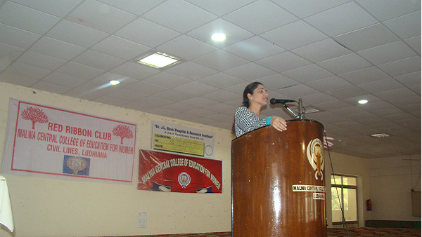 The World AIDS Day was celebrated by Red Ribbon Club unit of Malwa Central College of Education for Women, Ludhiana.